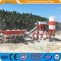 SGS 18,5x2KW 50m3 / h HZS50 RMC Batching Plant